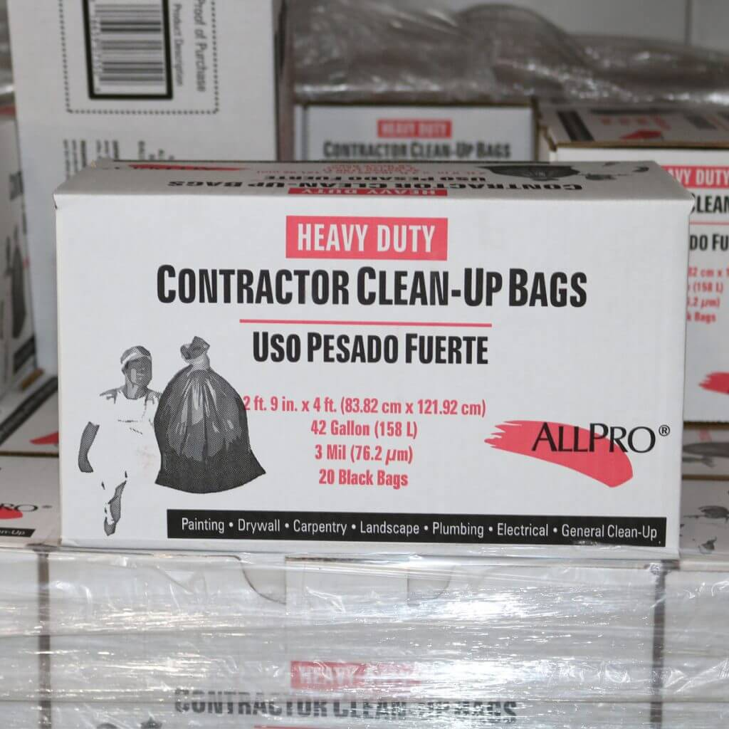 Allpro Contractor Clean-Up Bags, 3 mil, 42 gallon
