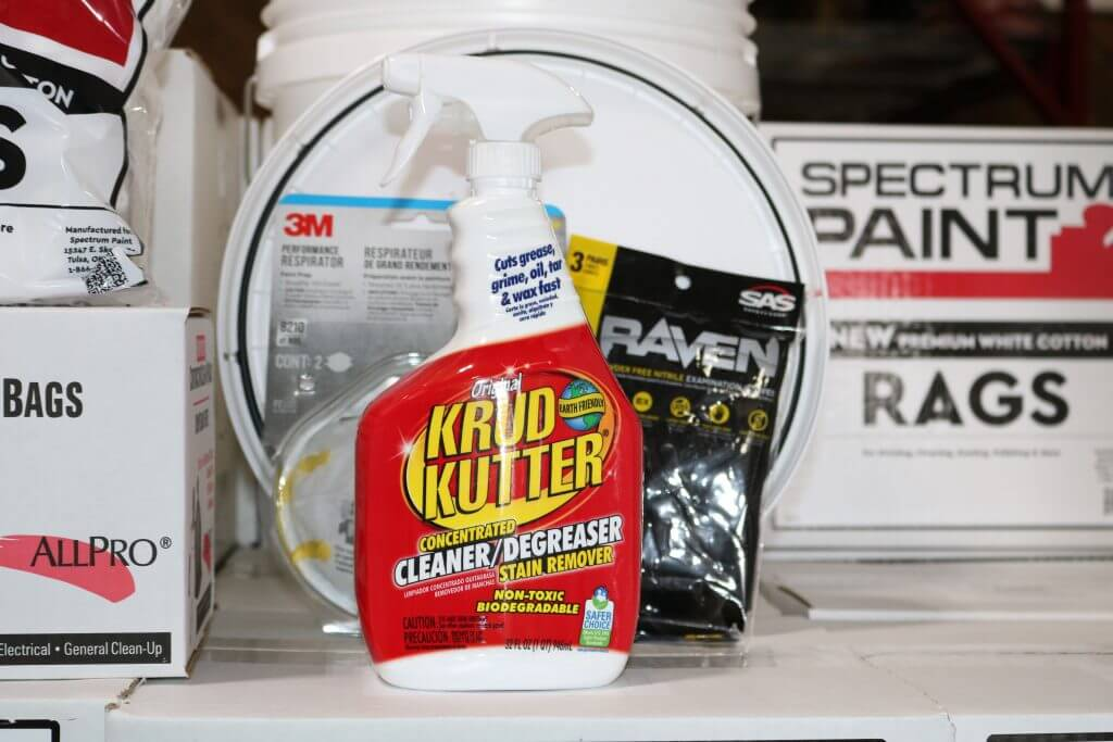 Project Essentials, highlight is Original Krud Kutter 32 oz., KK32 by Rustoleum
